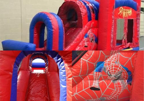 aventi verhuur springkastelen Spiderman rood